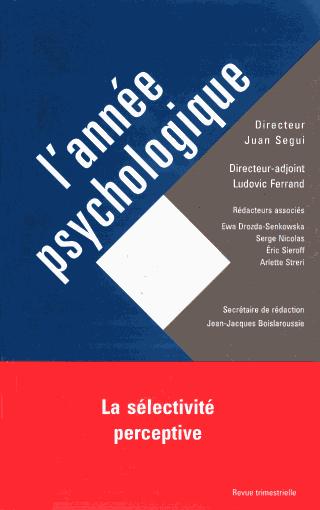 ANNEE PSYCHOLOGIQUE - version Numérique