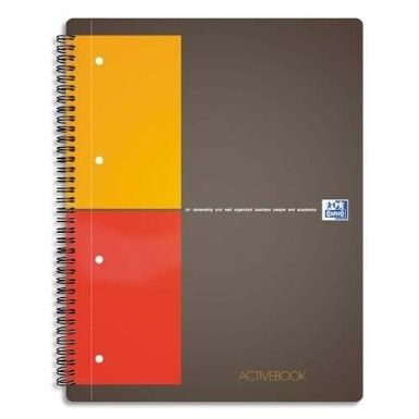 Cahier Oxford Active Book A4+ / 160 pages quadrillées