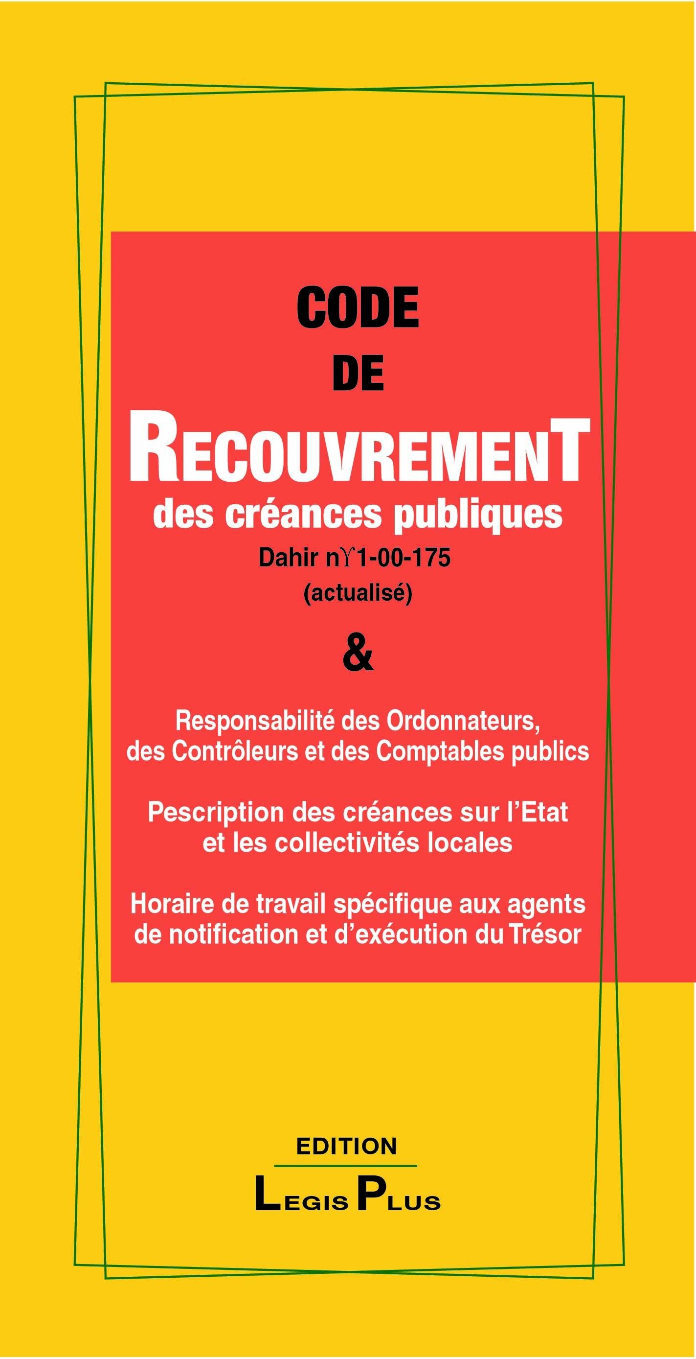 LE CODE DE RECOUVREMENT DES CRÉANCES PUB